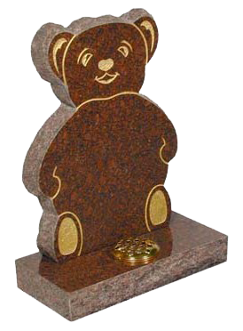 lidster_rl551_ruby_childrens_memorials_monumental_mason_headstone_teddy_bear_carving_ruby red