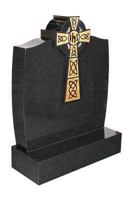 lidster_rl632_celtic_cross_black_granite_memorial_headstones_gravestones_monumental_masons_monument_c
