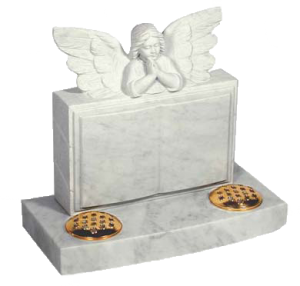 lidster_rl554_white_marble_childrens_memorials_monumental_masons_headstone_angel_over_book_carving_designs
